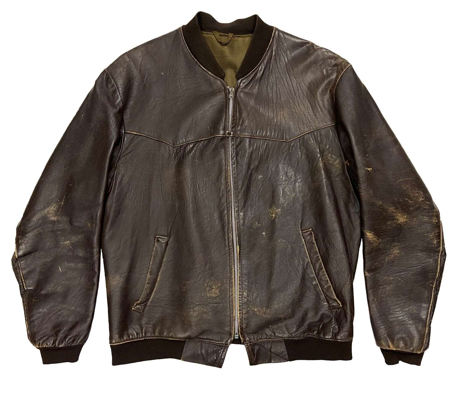 Original 1960s British Leather Bomber Jacket