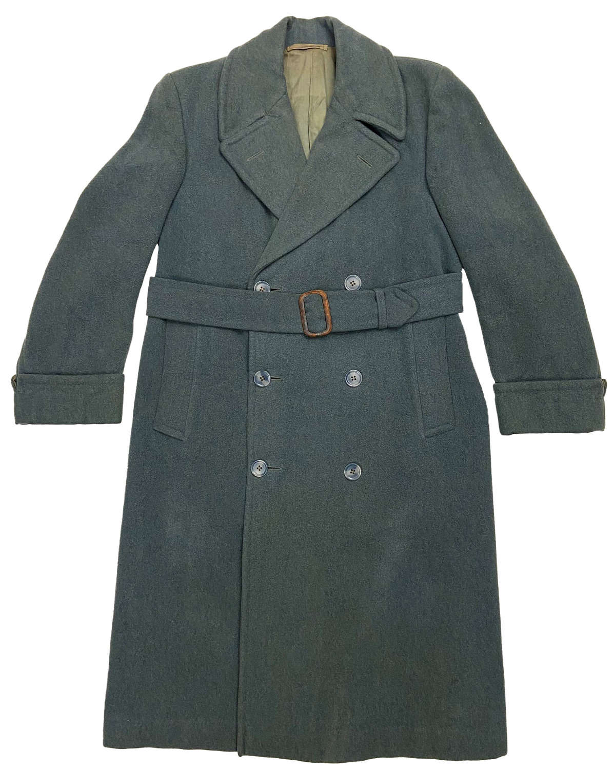 Original 1940s Teal Coloured Men's Overcoat by 'Redmayne'