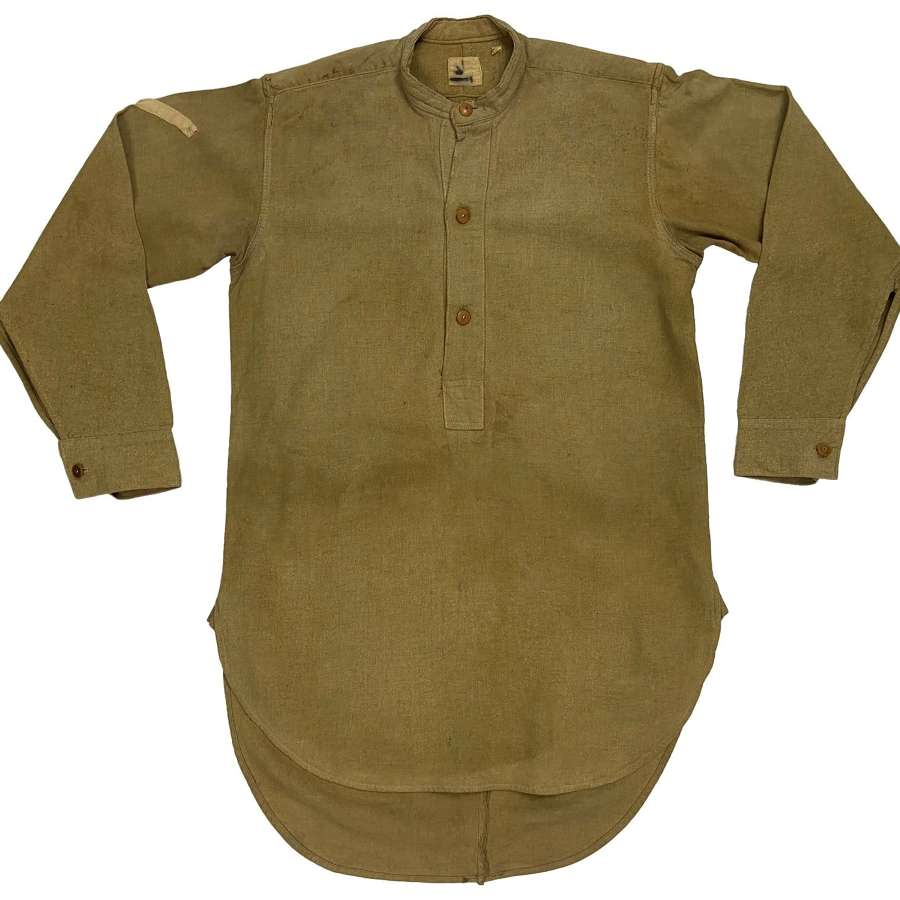 Original WW2 British Army Lance Corporals Collarless Shirt