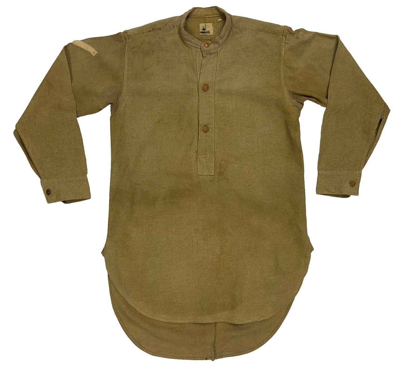 Original WW2 British Army Lance Corporals Collarless Shirt