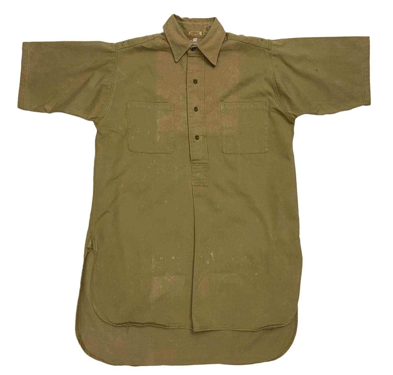 Original 1940s Royal Navy Khaki Drill Work Shirt