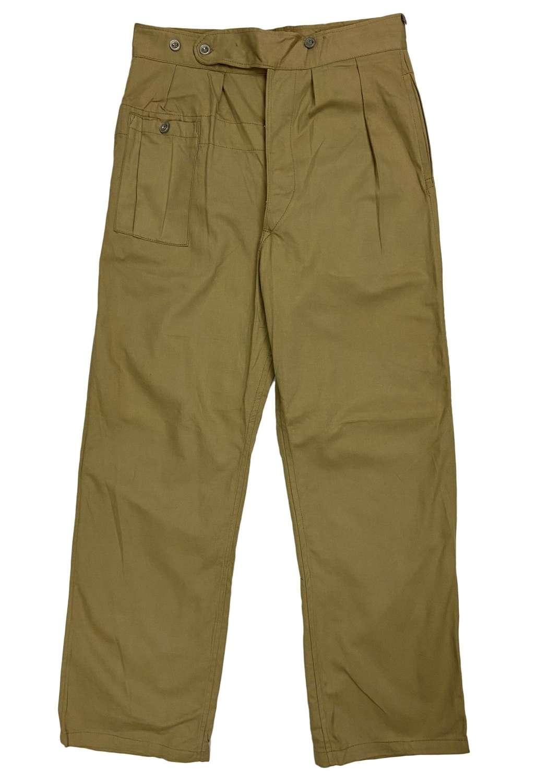 Original 1944 Dated Indian Made British Khaki Drill BD Trousers