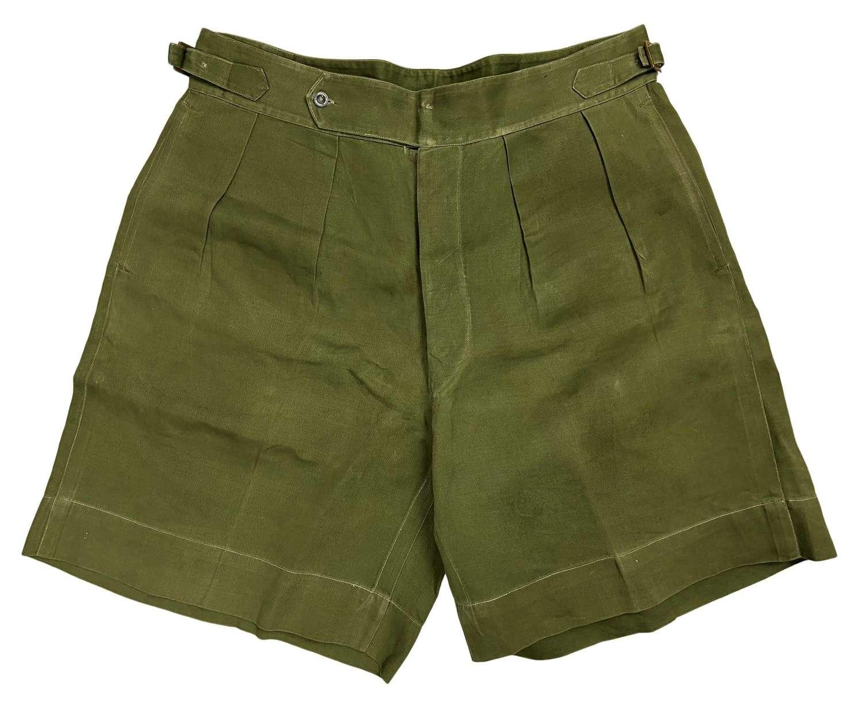 Original 1940s British Theatre Made Jungle Green Shorts