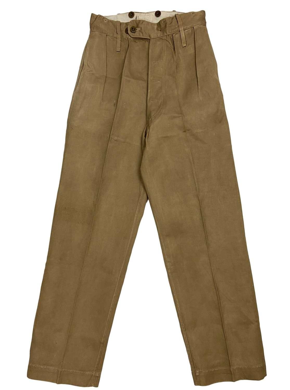 Original 1950s British Khaki Drill Trousers