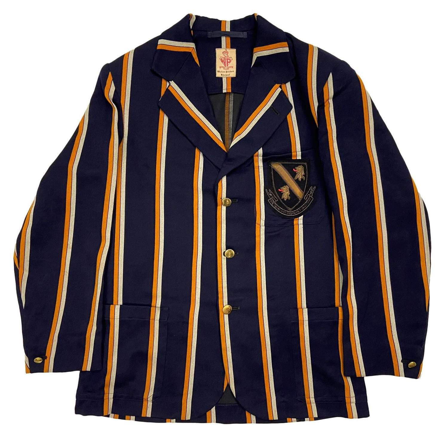 Original 1940s Striped School / College Boating Blazer