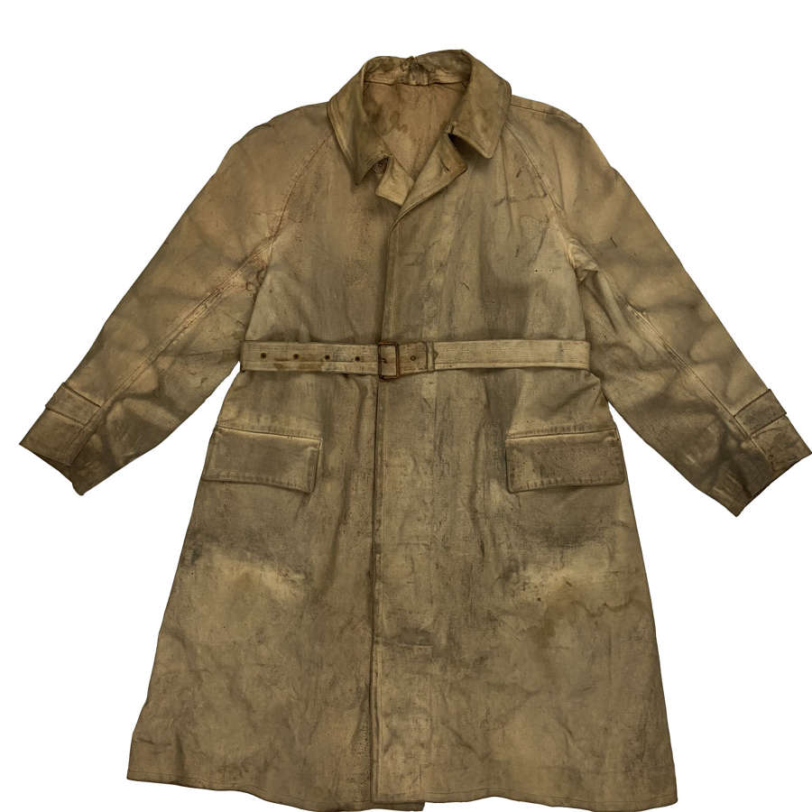 Original 1940s Rubberised Macintosh Raincoat by 'Mascot'