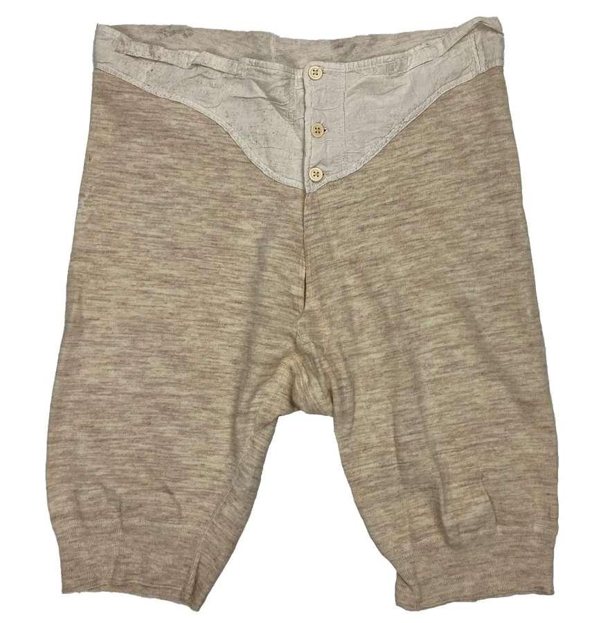 Original WW2 British Army Woollen Underpants