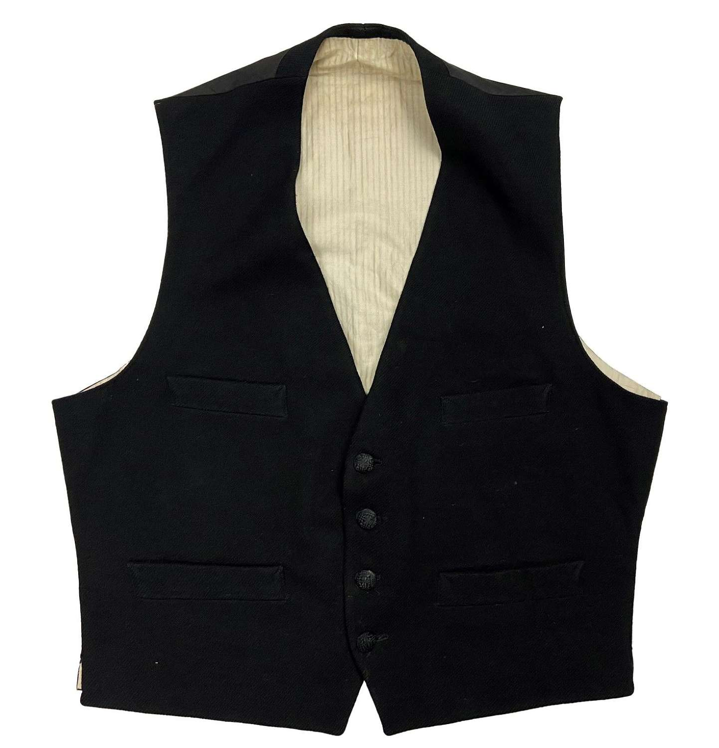 Original 1920s Men's Black Evening Waistcoat