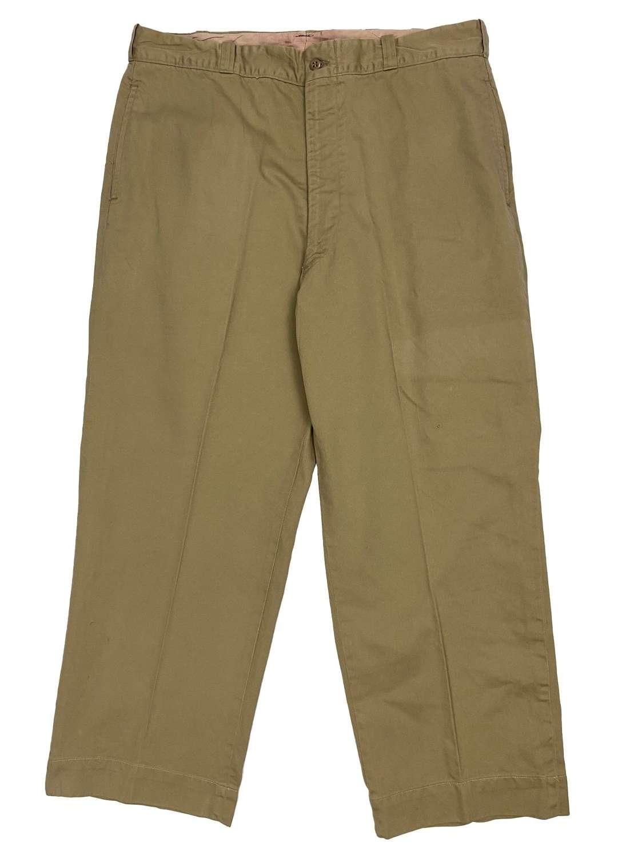 Original 1950s US Army Class B Khaki Trousers