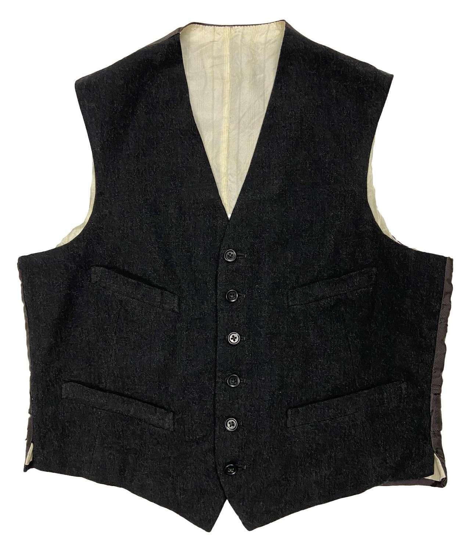 Original 1950s Grey Waistcoat