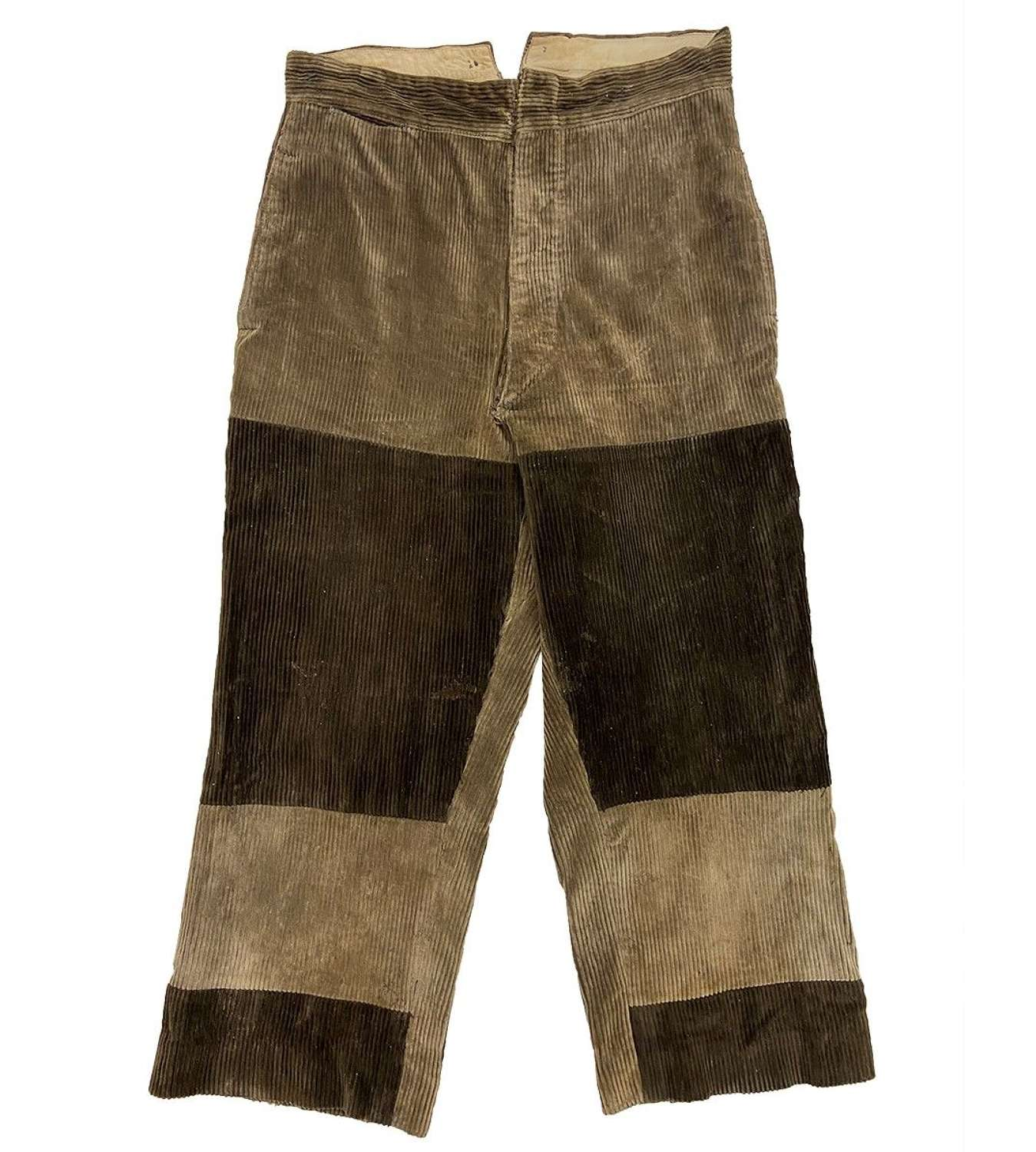 Original 1930s French Corduroy Workwear Trousers