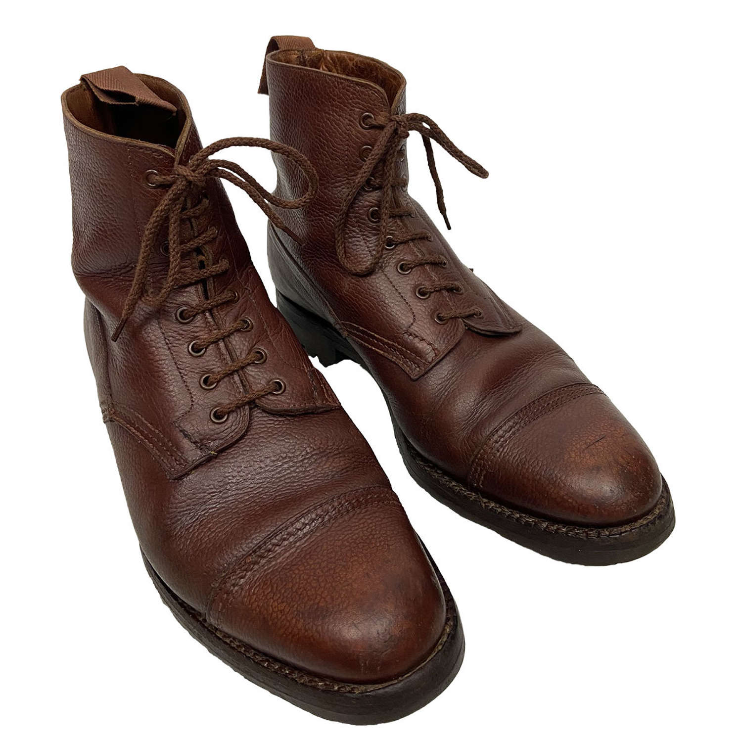 Original 1943 Dated British Army Officers Ankle Boots by'Moccasin'