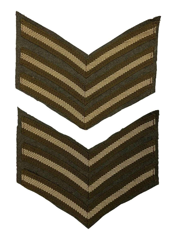 Original Great War Austerity Pattern Sergeants Stripes
