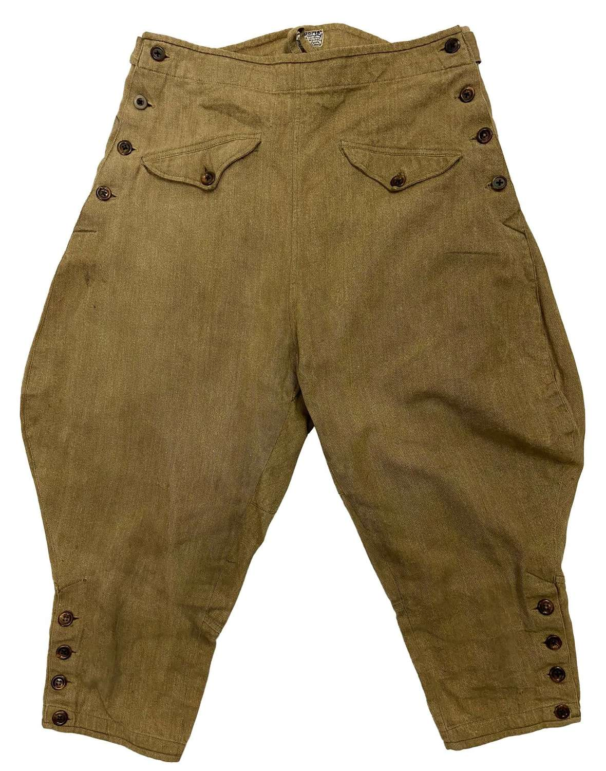 Original 1940s Swiss Women's Cotton Twill Breeches by 'OCH'