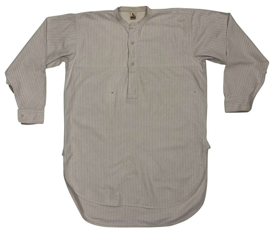 Original 1930s Men's Collarless Shirt by 'Cockspur'
