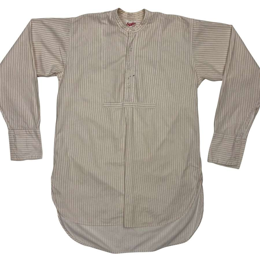 Original Early 1950s Men's Collarless Shirt by 'Simplex'