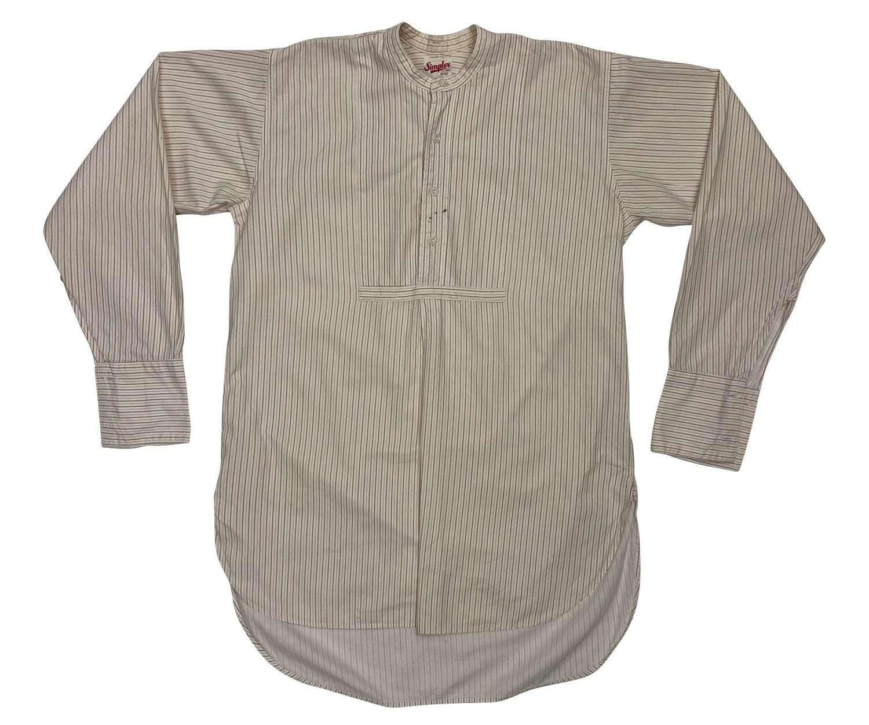 Original Early 1950s Men's Collarless Shirt by 'Simplex'