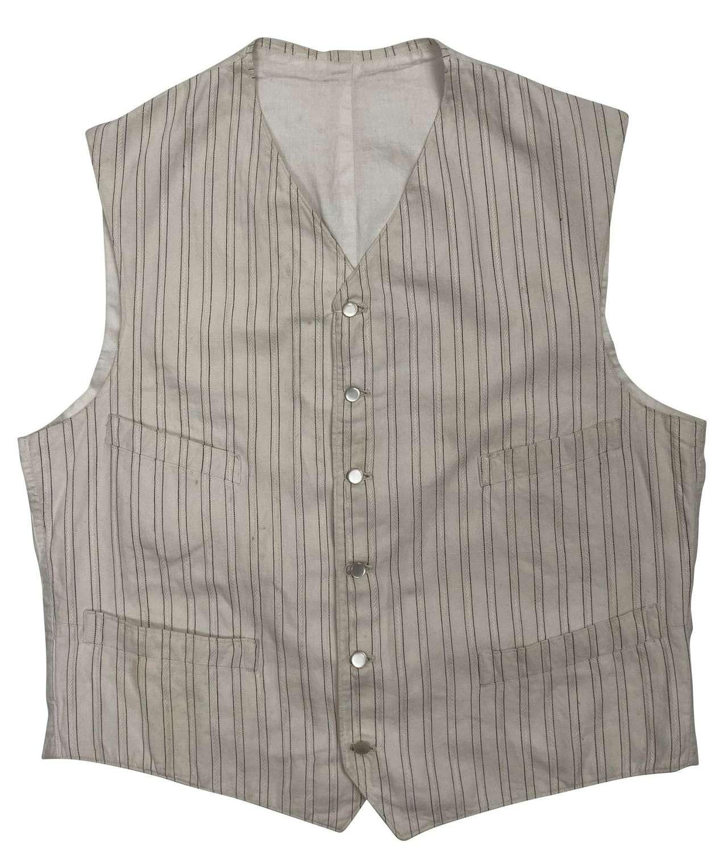 Original Edwardian White Jacquard Summer Wasitcoat