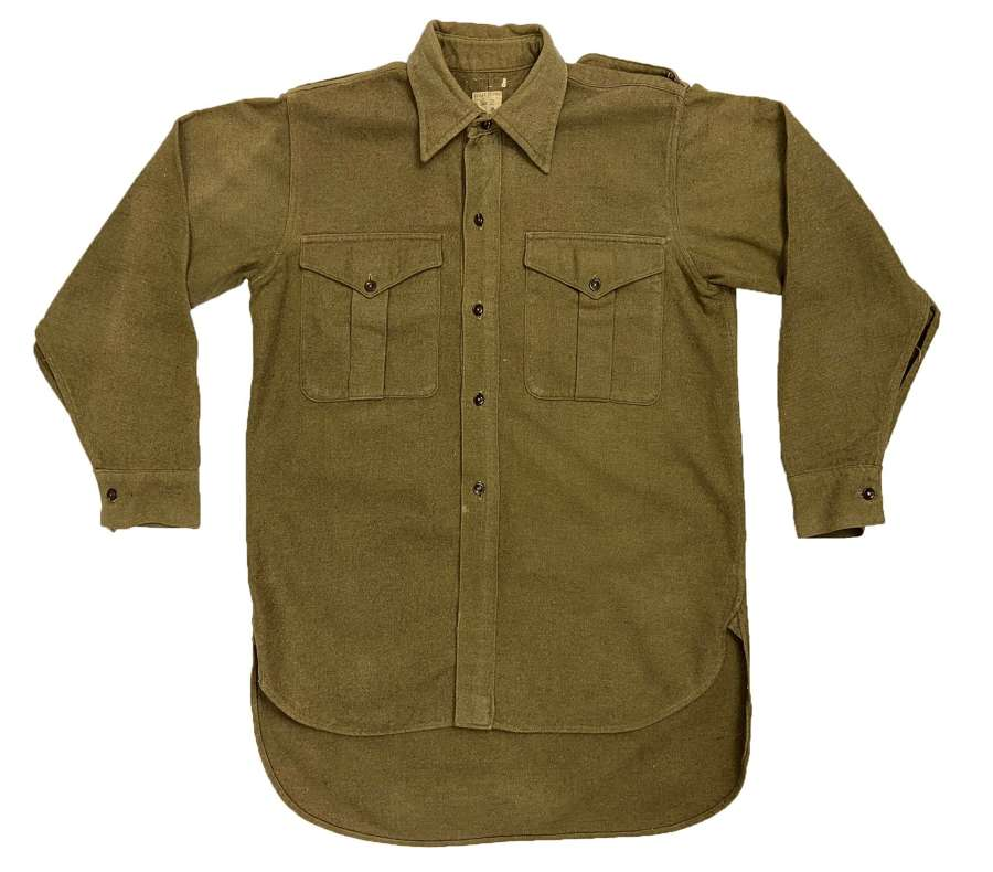 Original 1949 Dated British Army Ordinary Ranks Collared Shirt
