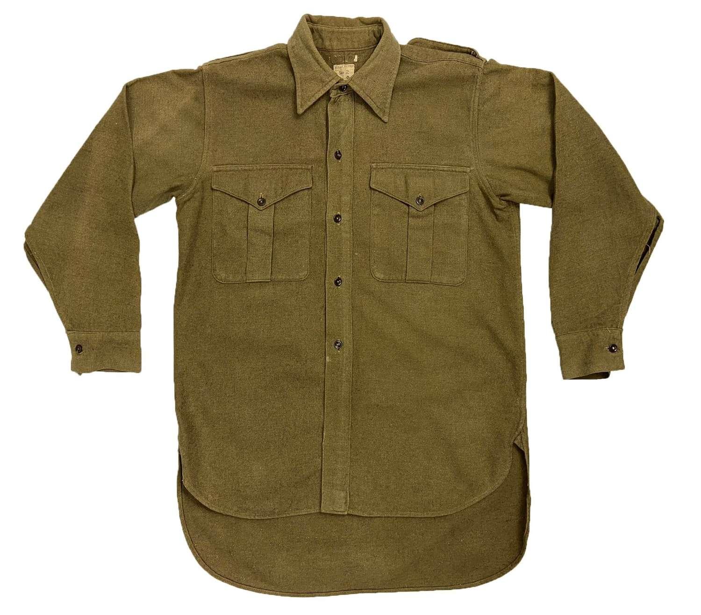 Original 1949 Dated British Army Ordinary Ranks Collared Shirt