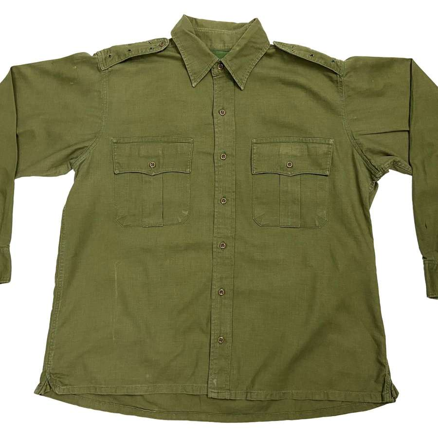 Original British Army Jungle Green Aertex Shirt