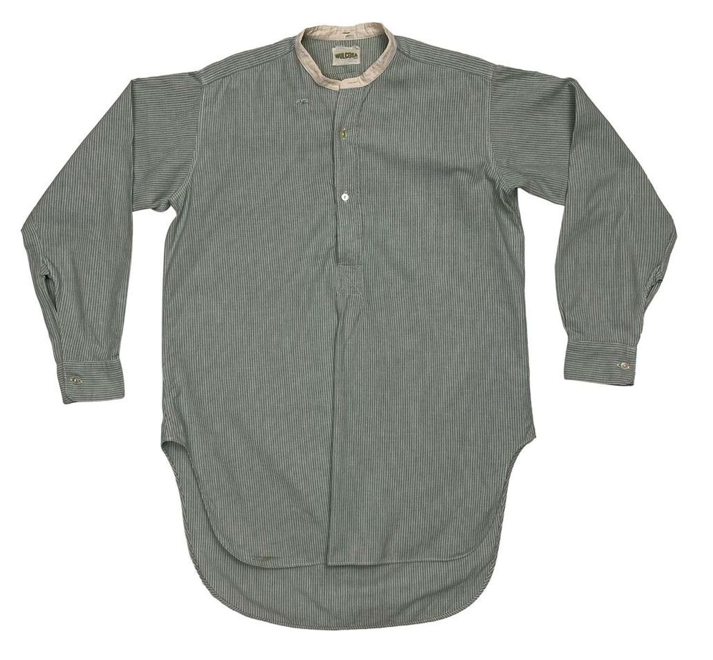 Original Early 1950s Men's Collarless Shirt by 'Wulcosa'