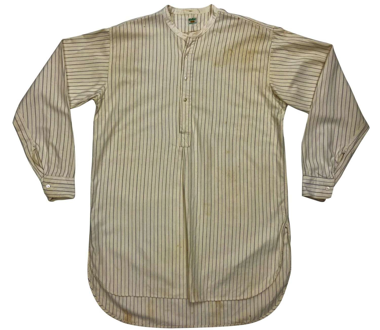 Original 1930s Men's Collarless Wool Shirt by 'Radiac'