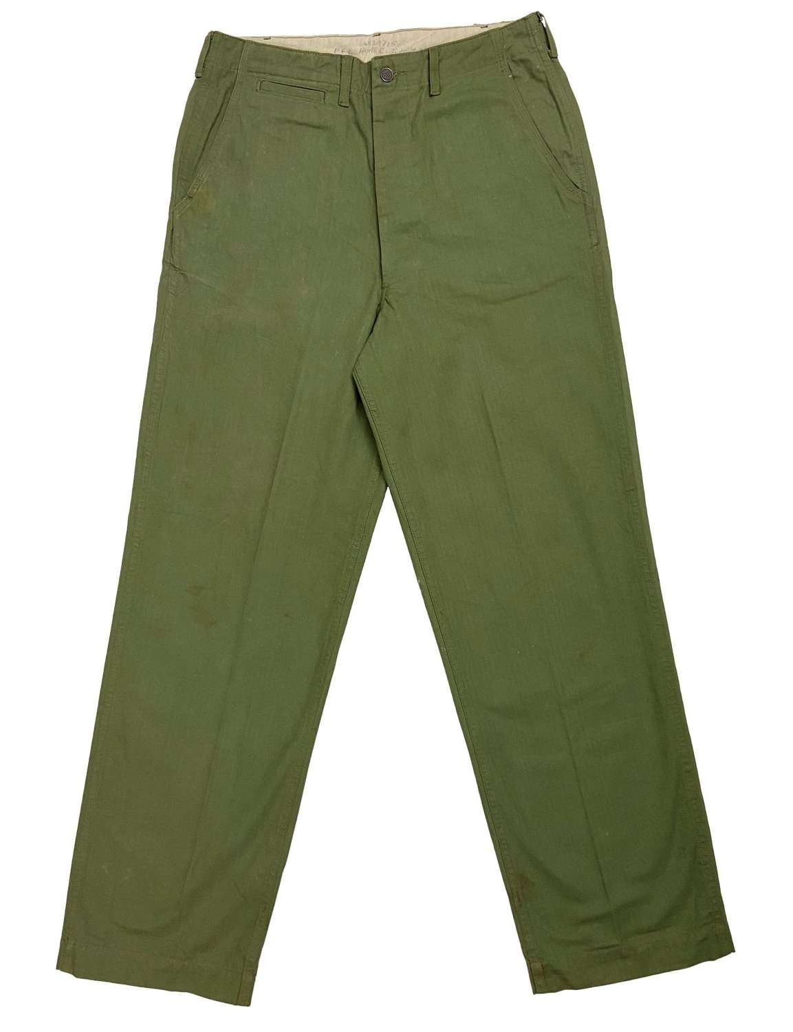 Original WW2 US Army M1942 HBT Trousers - Size 34x34 1/2