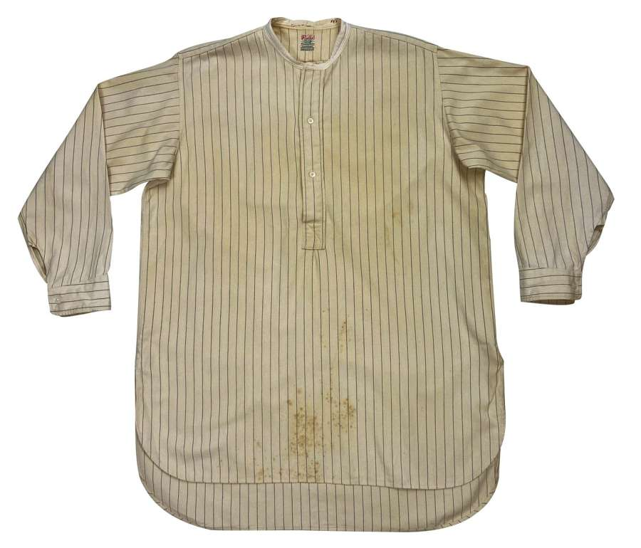 Original 1930s Men's Collarless Wool Shirt by 'Radiac' H. C. Bailey