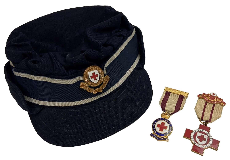 Original British Red Cross Nurse's Cap and Medal Grouping - 39 Essex