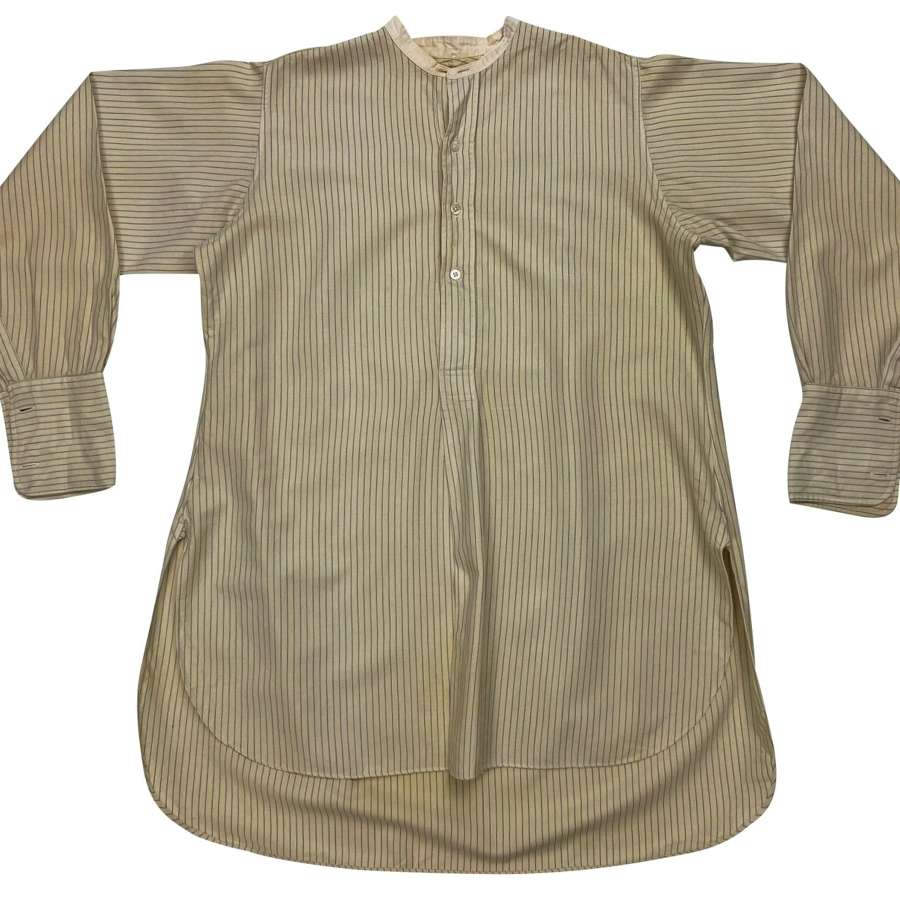 Original 1930s Men's Wool Flannel Collarless Shirt by 'Andre & Co' (2)