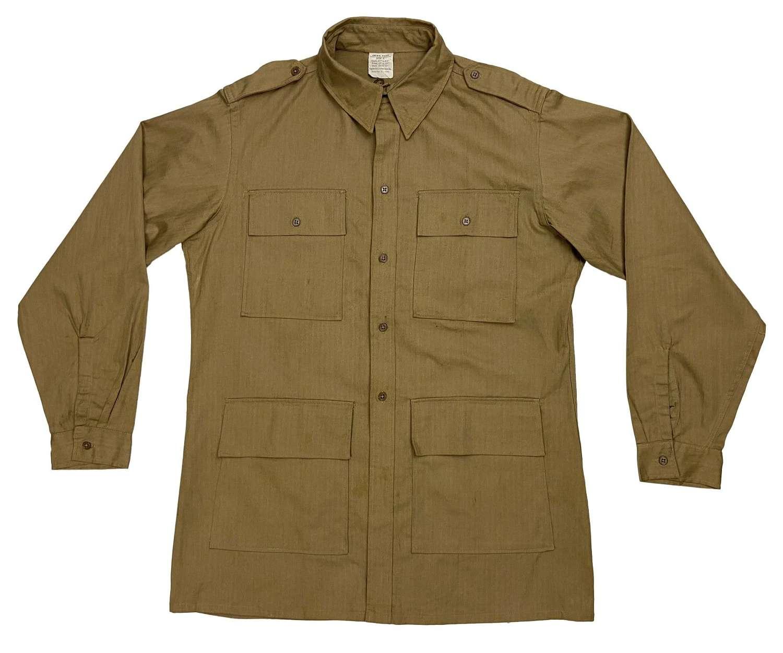 Rare 1942 Dated War Aid HBT Bush Jacket - Large Size