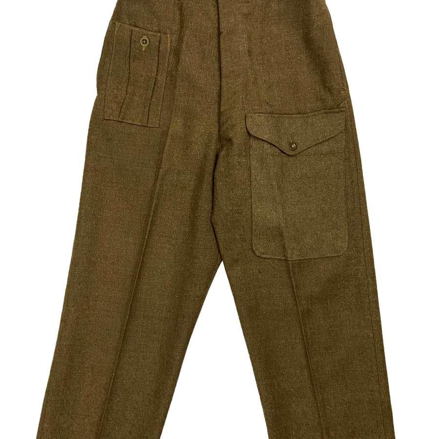 Original 1945 Dated 1940 Pattern (Austerity) Battledress Trousers - 10