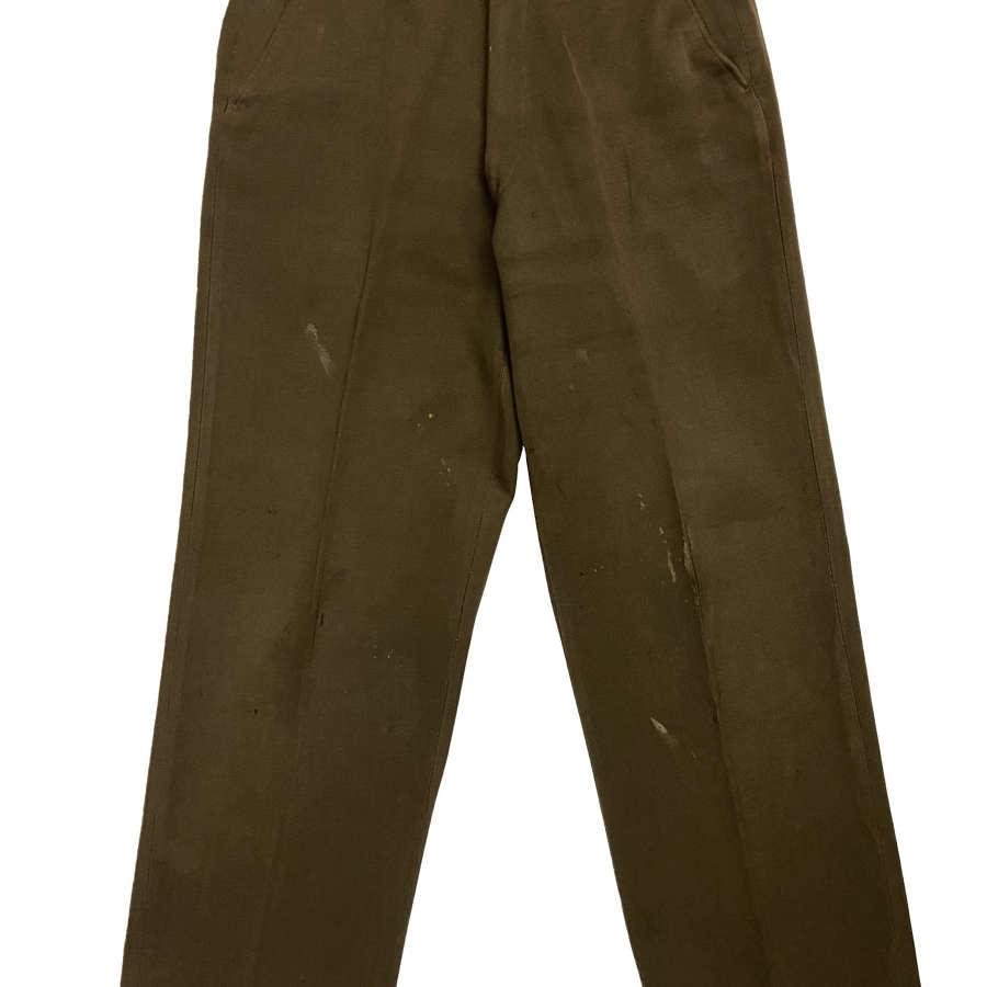 Original WW2 US Army OD 51 Officers Trousers