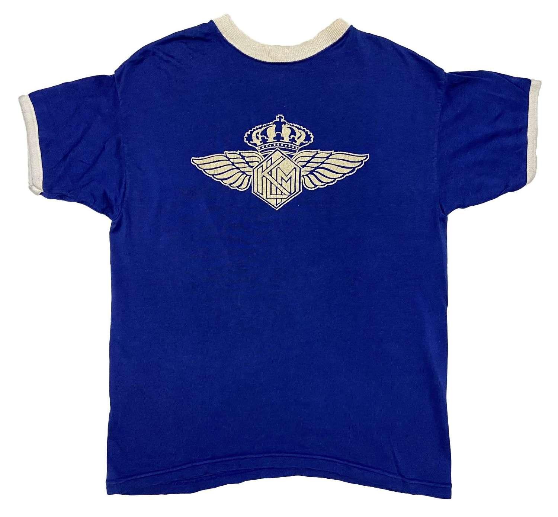 Original 1950s Blue KLM Airlines T Shirt