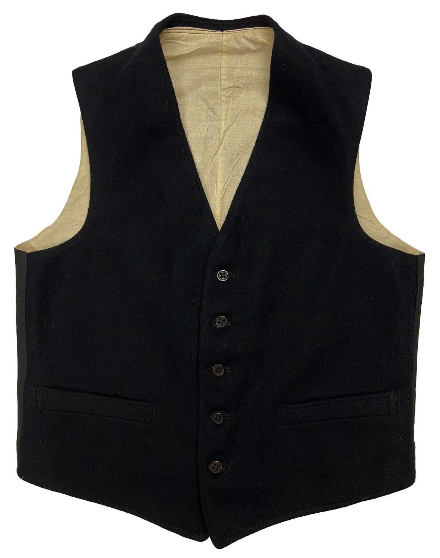 Original 1930s L.M.S.R Wool Workwear Waistcoat by 'John Hammond & Co'