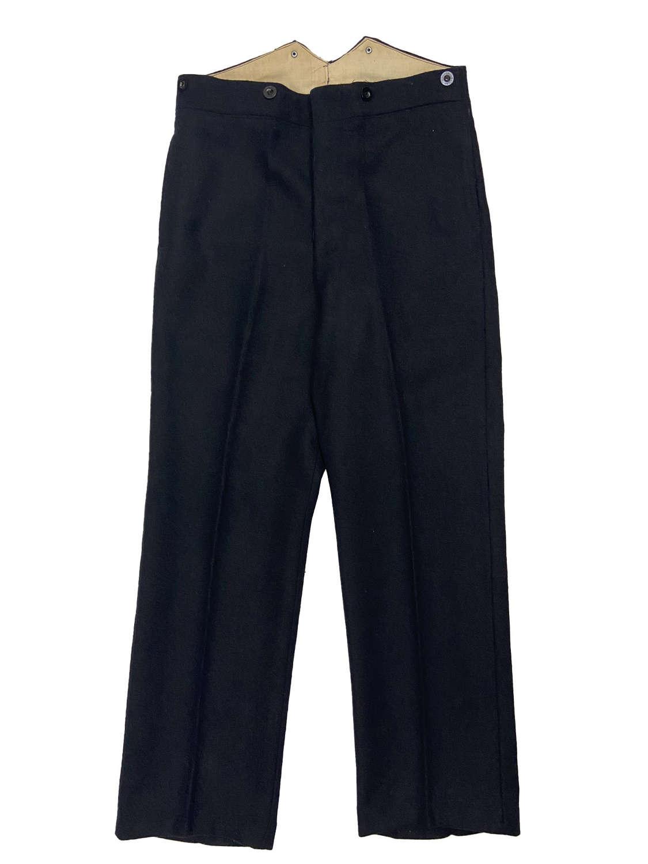 Original 1930s L.M.S.R Wool Workwear Trousers by 'John Hammond & Co'