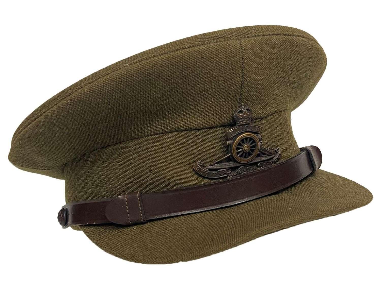 Original WW2 British Army Officers Peaked Cap - Royal Artillery