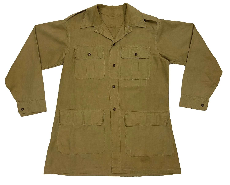 Original 1944 Dated Indian Made British Aertex Bush Jacket (2)