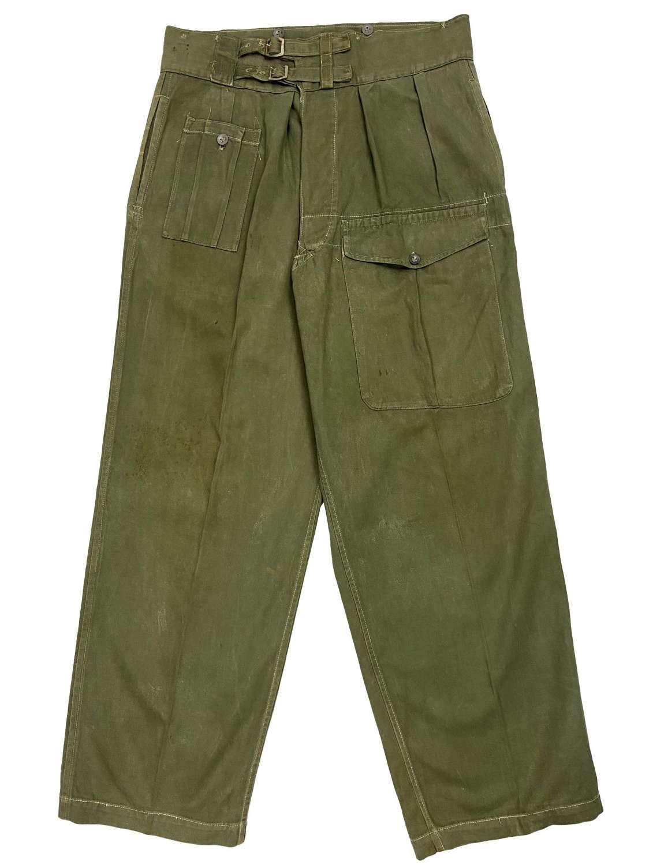 Original WW2 Indian Made British Jungle Green Trousers