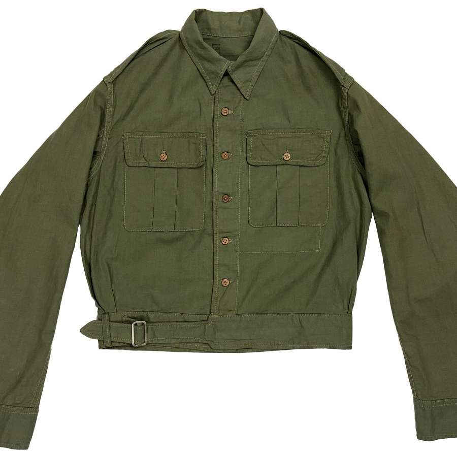 Original 1944 Dated Indian Made Aertex Jungle Green Battledress Blouse