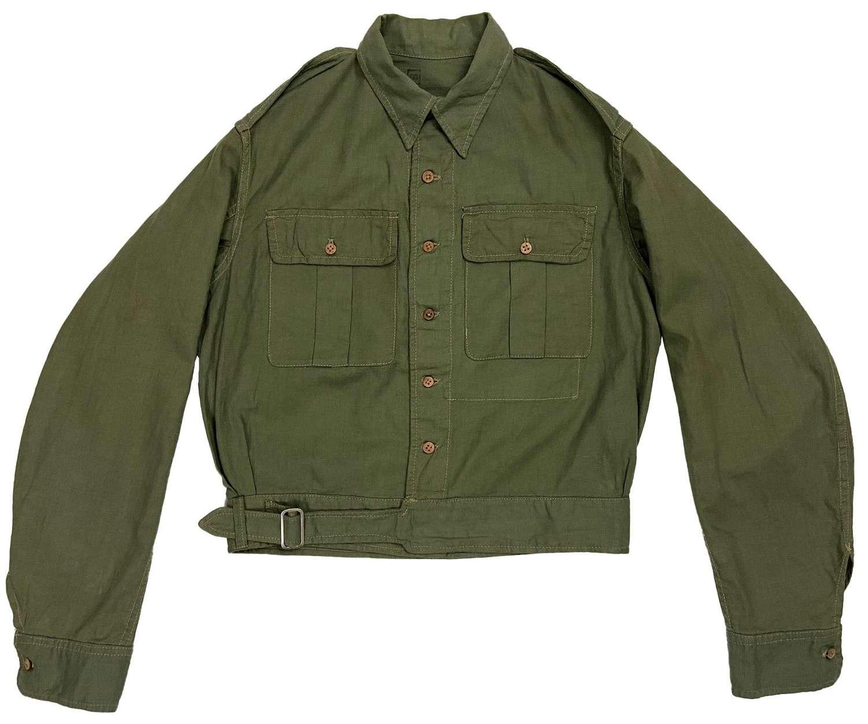 Original 1944 Dated Indian Made Aertex Jungle Green Battledress Blouse