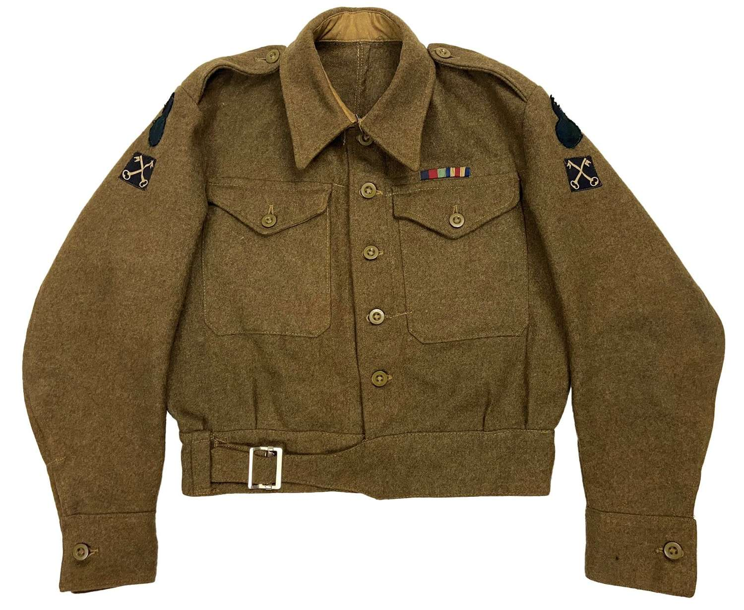 Original 1945 Dated Royal Scots Fusiliers 1940 Pattern (Austerity) BD