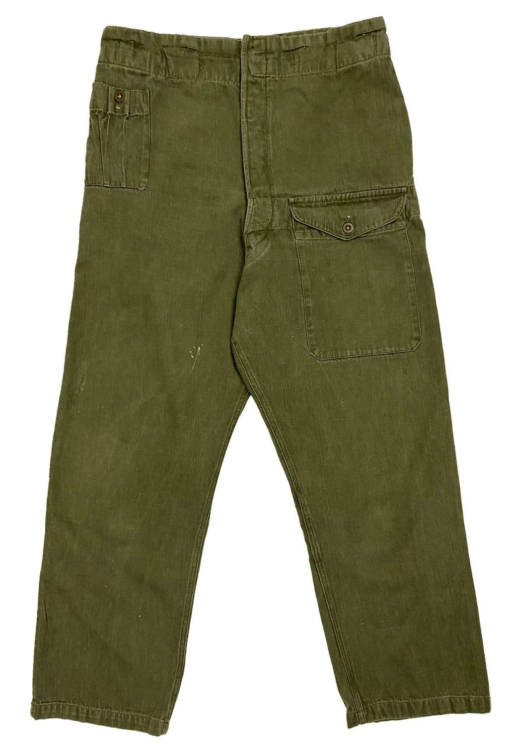 Original 1955 Dated British Denim Battledress Trousers