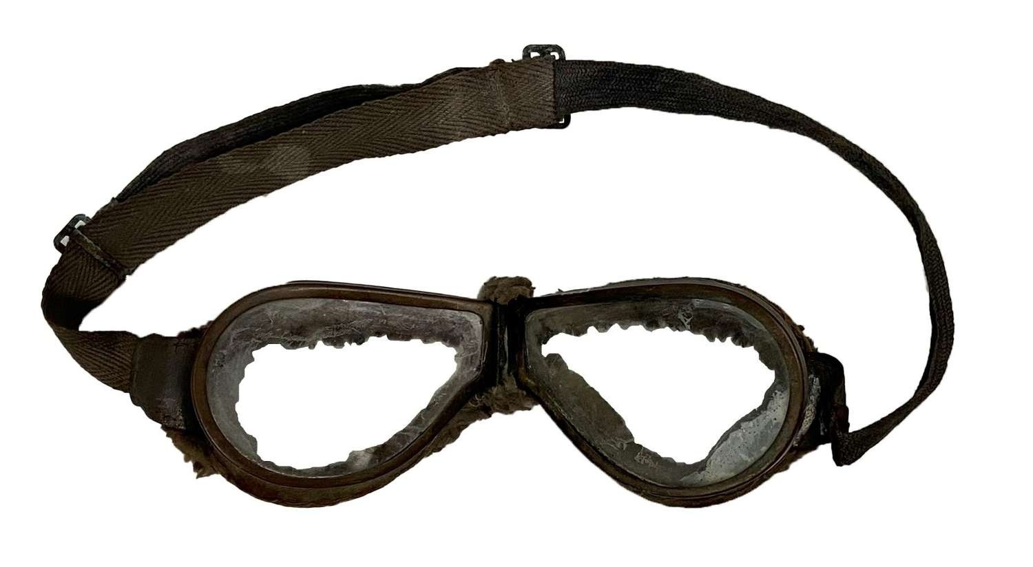 Original WW2 British Army MT Goggles with Clear Lenses