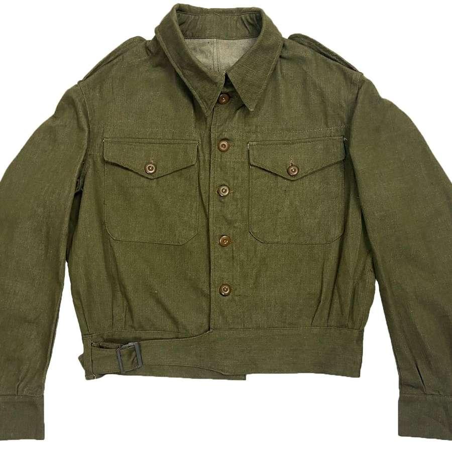 Original 1953 Dated British Army Denim Battledress Blouse - Size 9