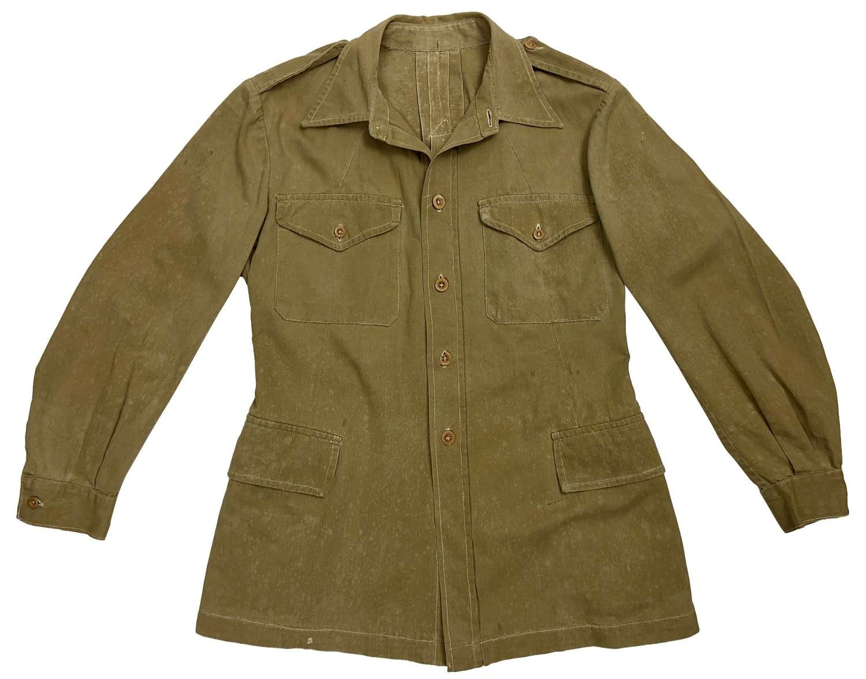 Original WW2 British Theatre Made Khaki Drill Bush Jacket
