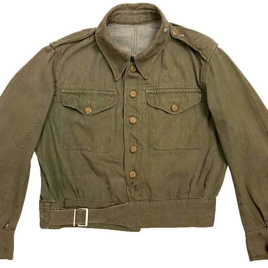 Original 1955 Dated British Army Denim Battledress Blouse - Size 6