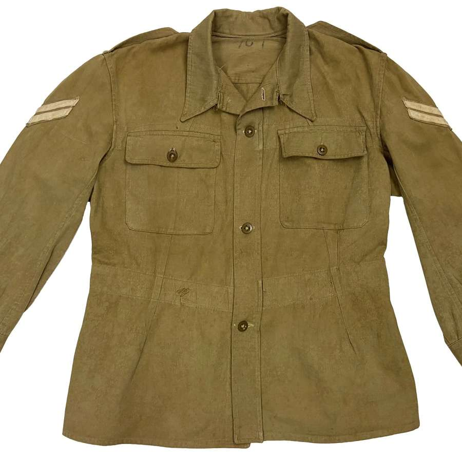 Original 1946 Dated Indian Made Cotton Drill Bush Jacket