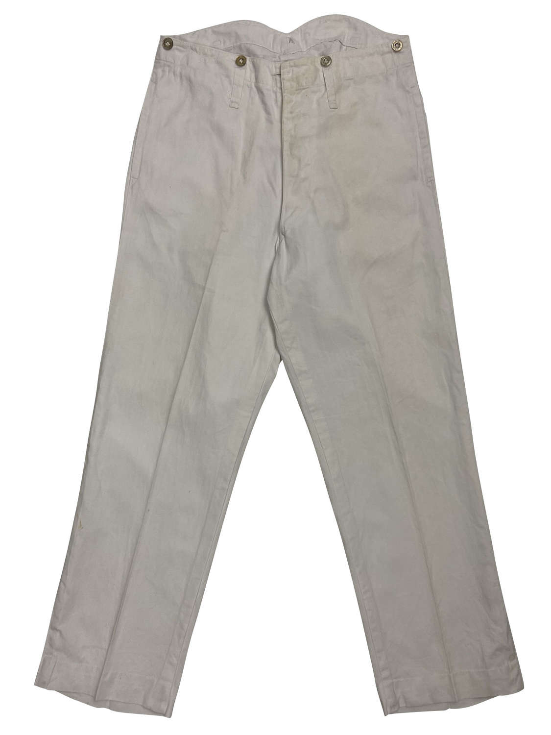 Original 1930s White Royal Navy Work Trousers